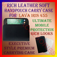 ACM-RICH LEATHER SOFT CARRY CASE LAVA IRIS 455 MOBILE HANDPOUCH COVER PROTECTION