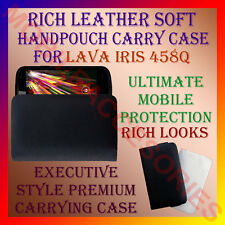 ACM-RICH LEATHER SOFT CARRY CASE LAVA IRIS 458Q MOBILE HANDPOUCH COVER PROTECT
