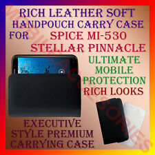 ACM-RICH LEATHER SOFT CARRY CASE SPICE MI-530 STELLAR PINNACLE HANDPOUCH COVER