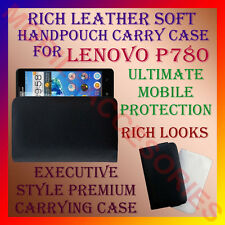 ACM-RICH LEATHER SOFT CARRY CASE for LENOVO P780 MOBILE HANDPOUCH COVER PROTECT