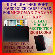 ACM-RICH LEATHER SOFT CARRY CASE for MICROMAX CANVAS LITE A92 MOBILE HANDPOUCH