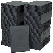 CD DVD BLU-RAY CASES 7MM SPINE CHOOSE 1 SINGLE CASE OR 10/ 25/ 50/ 100/ 200