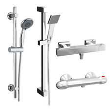 Thermostatic Shower Mixer Valve With Slide Rail Kit Option Round Square Chrome