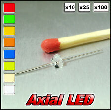 373# Axial LED Available white, warm white, red, blue, yellow, orange, green
