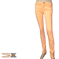 LE TEMPS DE CERISES Jeans slim stretch femme orange NEW SIMON