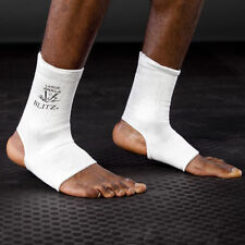 Blitz Sport Elastic Ankle Supports - White Adults Training Runnng Gym Exercise