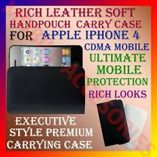 ACM-RICH LEATHER SOFT CARRY CASE for APPLE IPHONE 4 CDMA HANDPOUCH COVER PROTECT