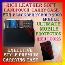 ACM-RICH LEATHER SOFT CARRY CASE for BLACKBERRY BOLD 9000 MOBILE HANDPOUCH COVER