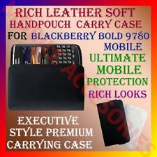 ACM-RICH LEATHER SOFT CARRY CASE for BLACKBERRY BOLD 9780 MOBILE HANDPOUCH COVER