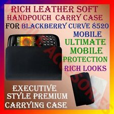 ACM-RICH LEATHER SOFT CARRY CASE for BLACKBERRY CURVE 8520 MOBILE HANDPOUCH CASE