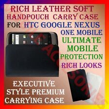 ACM-RICH LEATHER SOFT CARRY CASE for HTC GOOGLE NEXUS ONE MOBILE HANDPOUCH COVER