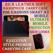 ACM-RICH LEATHER SOFT CARRY CASE for KARBONN SMART A3 MOBILE HANDPOUCH COVER NEW