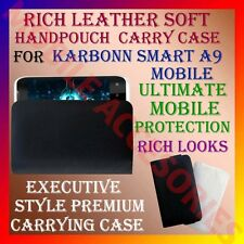 ACM-RICH LEATHER SOFT CARRY CASE for KARBONN SMART A9 MOBILE HANDPOUCH COVER NEW