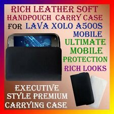 ACM-RICH LEATHER SOFT CARRY CASE for LAVA XOLO A500S MOBILE HANDPOUCH COVER CASE