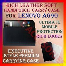 ACM-RICH LEATHER SOFT CARRY CASE for LENOVO A690 MOBILE HANDPOUCH COVER PROTECT