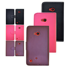 New Colour Leather Flip Wallet Style Phone Case Cover Fits Nokia Lumia N720 720