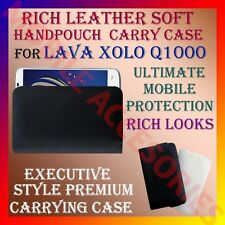 ACM-RICH LEATHER SOFT CARRY CASE for LAVA XOLO Q1000 MOBILE HANDPOUCH COVER CASE
