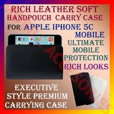 ACM-RICH LEATHER SOFT CARRY CASE for APPLE IPHONE 5C MOBILE HANDPOUCH COVER CASE