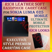 ACM-RICH LEATHER SOFT CARRY CASE for NOKIA LUMIA 625 MOBILE HANDPOUCH COVER