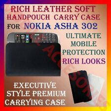 ACM-RICH LEATHER SOFT CARRY CASE for NOKIA ASHA 302 MOBILE POUCH COVER PROTECT