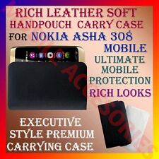 ACM-RICH LEATHER SOFT CARRY CASE for NOKIA ASHA 308 MOBILE POUCH COVER PROTECT