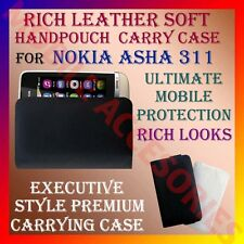 ACM-RICH LEATHER SOFT CARRY CASE for NOKIA ASHA 311 MOBILE POUCH COVER PROTECT