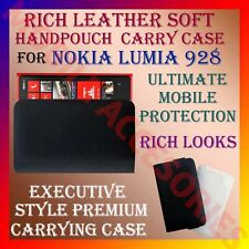 ACM-RICH LEATHER SOFT CARRY CASE for NOKIA LUMIA 928 MOBILE HANDPOUCH COVER CASE