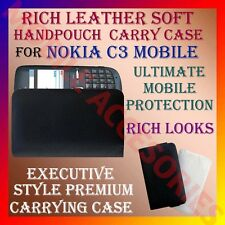 ACM-RICH LEATHER SOFT CARRY CASE for NOKIA C3 MOBILE HANDPOUCH COVER PROTECTION