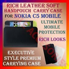 ACM-RICH LEATHER SOFT CARRY CASE for NOKIA C5 MOBILE HANDPOUCH COVER PROTECTION