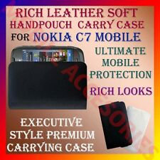 ACM-RICH LEATHER SOFT CARRY CASE for NOKIA C7 MOBILE HANDPOUCH COVER PROTECTION