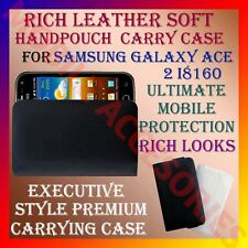 ACM-RICH LEATHER SOFT CARRY CASE for SAMSUNG GALAXY ACE 2 I8160 HANDPOUCH COVER