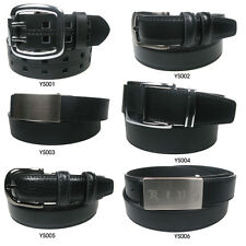 New Mens Gents Leather Trouser Belt and Jeans Belt
