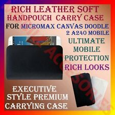 ACM-RICH LEATHER SOFT CARRY CASE for MICROMAX CANVAS DOODLE 2 A240 POUCH COVER