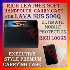 ACM-RICH LEATHER SOFT CARRY CASE for LAVA IRIS 506Q MOBILE HANDPOUCH COVER CASE