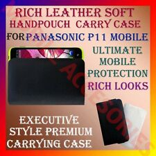 ACM-RICH LEATHER SOFT CARRY CASE for PANASONIC P11 MOBILE HANDPOUCH COVER HOLDER