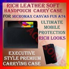 ACM-RICH LEATHER SOFT CARRY CASE MICROMAX CANVAS FUN A74 MOBILE HANDPOUCH COVER