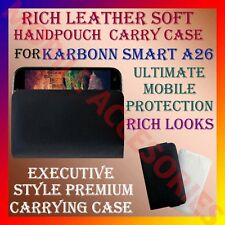 ACM-RICH LEATHER SOFT CARRY CASE KARBONN SMART A26 MOBILE HANDPOUCH COVER HOLDER
