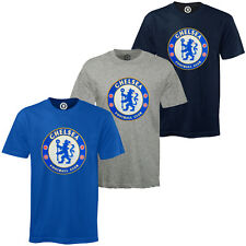 Chelsea FC Official Football Gift Mens Crest T-Shirt