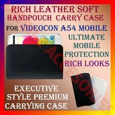 ACM-RICH LEATHER SOFT CARRY CASE VIDEOCON A54 MOBILE HANDPOUCH COVER PROTECTION