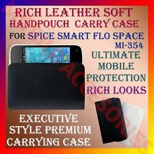ACM-RICH LEATHER SOFT CARRY CASE SPICE SMART FLO SPACE MI-354 MOBILE HANDPOUCH