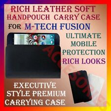ACM-RICH LEATHER SOFT CARRY CASE for M-TECH FUSION MOBILE HANDPOUCH COVER HOLDER