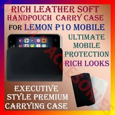 ACM-RICH LEATHER SOFT CARRY CASE for LEMON P10 MOBILE HANDPOUCH COVER PROTECTION