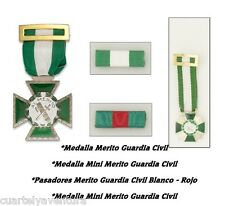 Medalla  Cruz al Merito de la Guardia Civil  MINI y Pasador