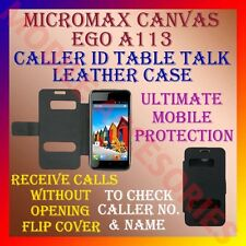 ACM-CALLER ID TABLE TALK CASE for MICROMAX CANVAS EGO A113 MOBILE FLIP COVER NEW
