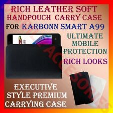 ACM-RICH LEATHER SOFT CARRY CASE of KARBONN SMART A99 MOBILE HANDPOUCH COVER NEW