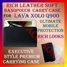 ACM-RICH LEATHER SOFT CARRY CASE for LAVA XOLO Q900 MOBILE HANDPOUCH COVER CASE