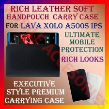 ACM-RICH LEATHER SOFT CARRY CASE for LAVA XOLO A500S IPS MOBILE HANDPOUCH COVER