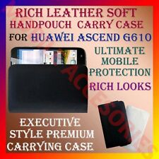 ACM-RICH LEATHER SOFT CARRY CASE for HUAWEI ASCEND G610 MOBILE HANDPOUCH COVER