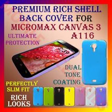 ACM-PREMIUM RICH MICROMAX CANVAS 3 A116 HARD SHELL BACK COVER CASE PANEL HOLDER