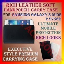 ACM-RICH LEATHER SOFT CARRY CASE SAMSUNG GALAXY S DUOS 2 S7582 HANDPOUCH COVER